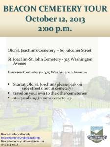 Cemetery Tours October 12
